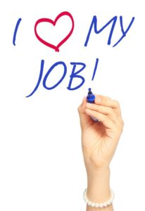 I love my job - job satisfaction image